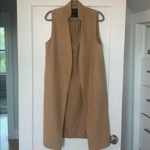Zara sleeveless long coat!